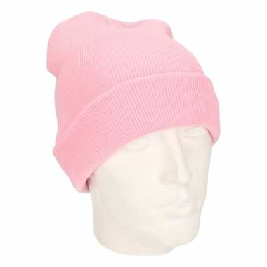 Winter muts voor volwassenen roze