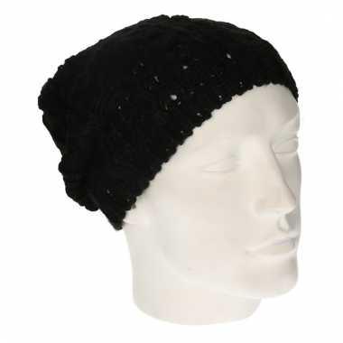 Winter muts zwart voor dames