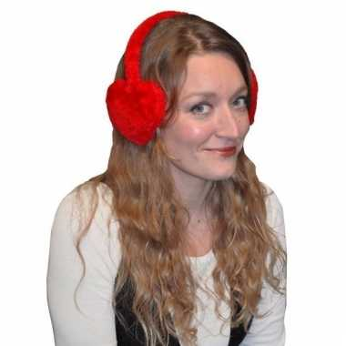 Winter oorwarmers rood voor volwassenen