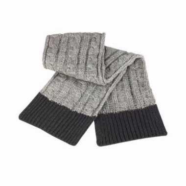Winter sjaal grijs voor heren