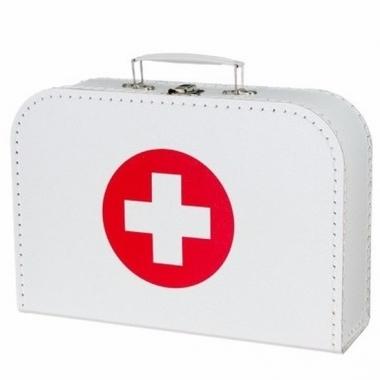 Wit dokterskoffertje rode kruis