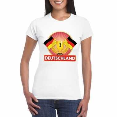Wit duitsland supporter kampioen shirt dames