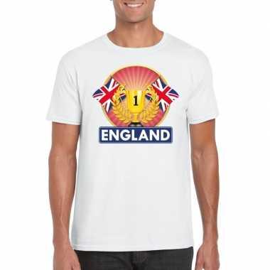 Wit groot brittannie/ engeland supporter kampioen shirt heren