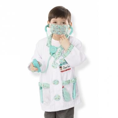 Witte dokter verkleedset voor kids