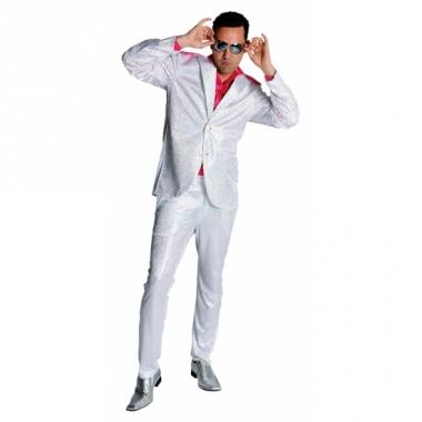 Witte glitter kleding voor heren