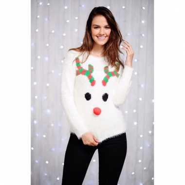 Witte Kersttrui.Witte Kersttrui Reindier Voor Dames Pchoofdstraat Nl