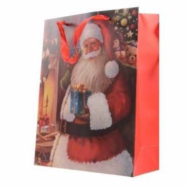 Xl Cadeautjes Kerst Tas Met Kerstman Opdruk 72 Cm Type 2