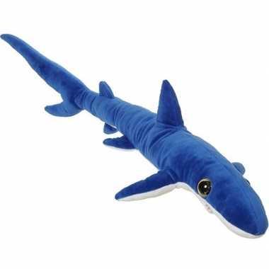 Xl knuffel blauwe haai 110 cm knuffels kopen