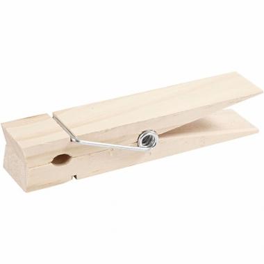 Xxl houten knijpers 15 cm