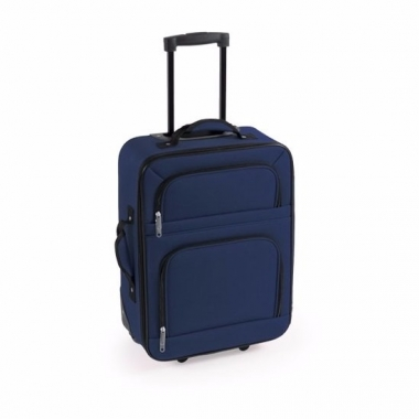 Zacht reis koffertje blauw 50 cm