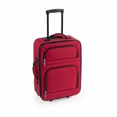Zacht reis koffertje rood 50 cm
