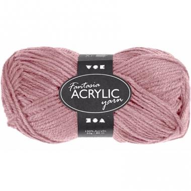 Zacht roze acryl 3-draads garen 80 meter