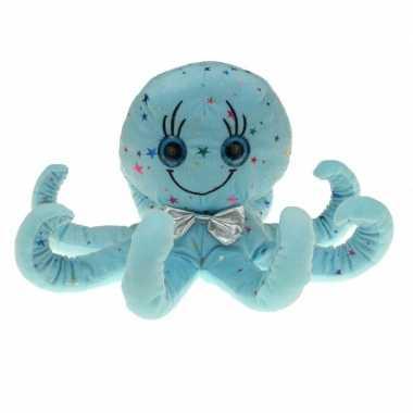 Zachte blauwe inktvis knuffel 40 cm
