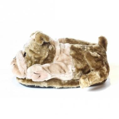 Zachte dieren pantoffels bulldog
