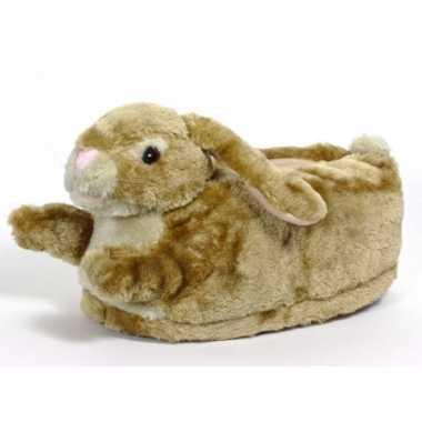 Zachte dieren pantoffels konijn