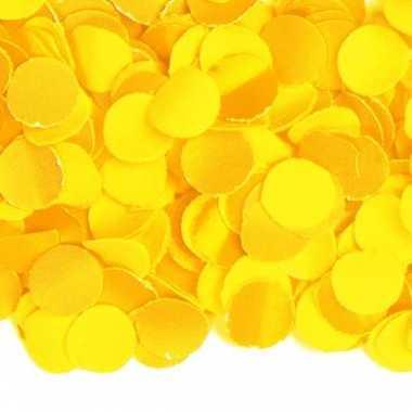 Zak van 1 kg gele confetti