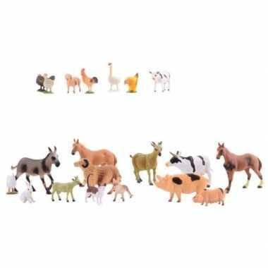 Zak van 20 boerderij dieren