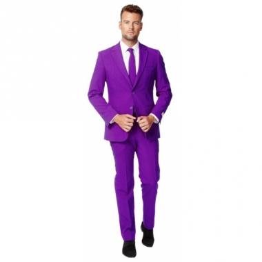 Zaken kostuum paars voor heren