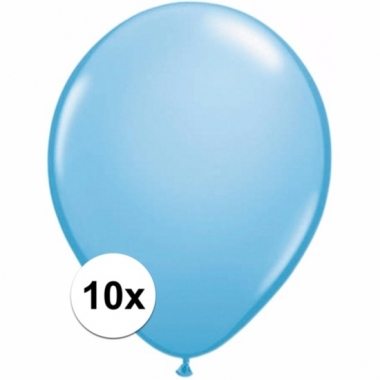 Zakje 10 lichtblauwe party ballonnen