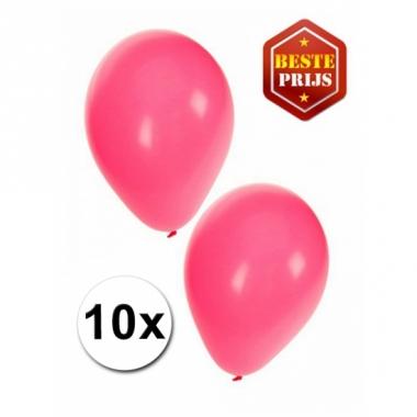 Zakje 10 roze party ballonnen