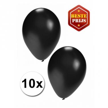 Zakje 10 zwarte party ballonnen