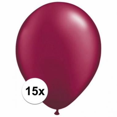 Zakje 15 donkerrode party ballonnen