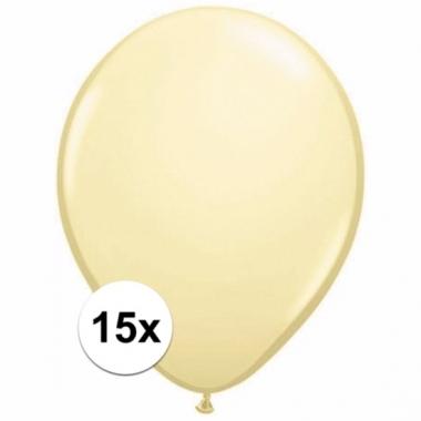 Zakje 15 ivoren party ballonnen