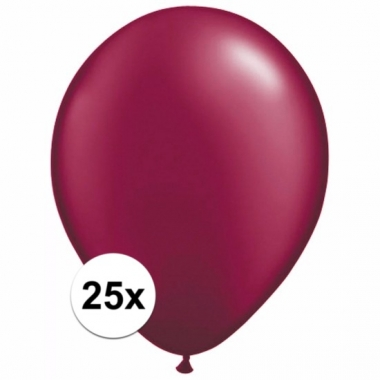 Zakje 25 donkerrode party ballonnen