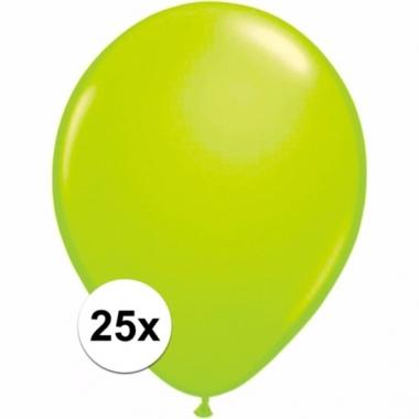 Zakje 25 groene party ballonnen
