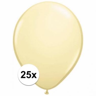 Zakje 25 ivoren party ballonnen