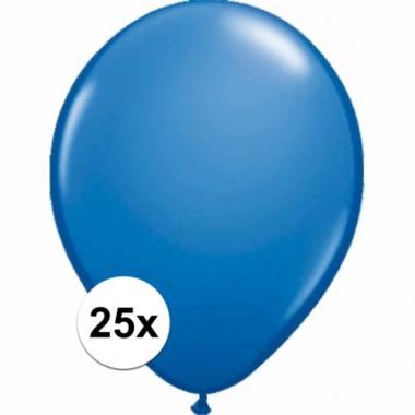 Zakje 25 metallic blauwe party ballonnen