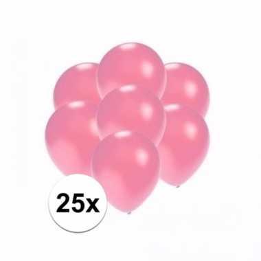 Zakje 25 metallic roze party ballonnen klein