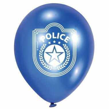 Zakje met 12x politie ballonnen