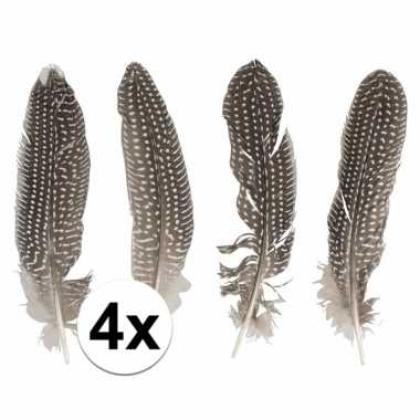 Zakje met 4 fazanten veren