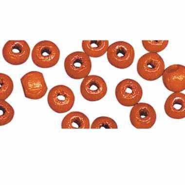 Zakje met 52 oranje kralen