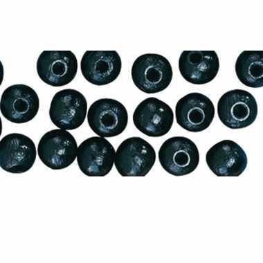 Zakje met 52 zwarte kralen