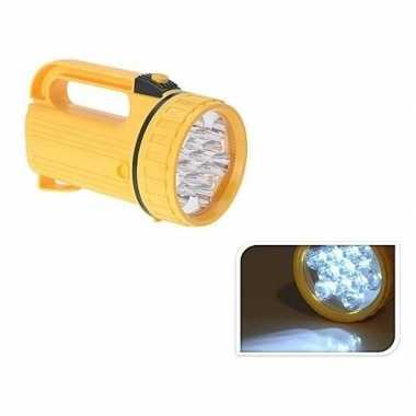Zaklamp geel met led verlichting 20 cm