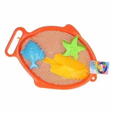 Zand schepje en vormpjes oranje 4 stuks