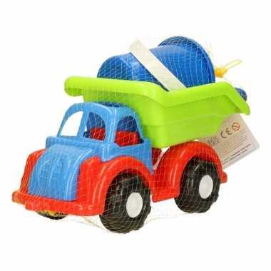 Zand vrachtwagen van plastic 28x14x20cm