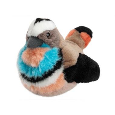 Zangvogel blauwborst van pluche