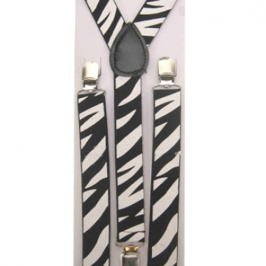 Zebra bretels zwart wit