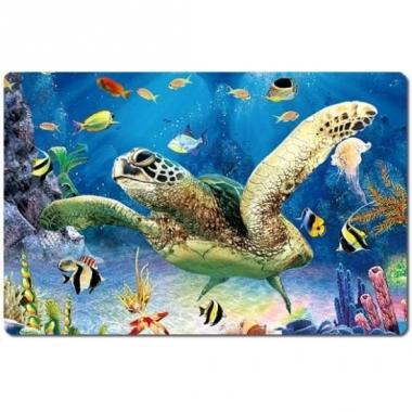 Zee dieren placemat schildpad 3d