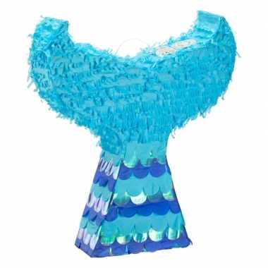 Zeemeerminstaart pinata blauw 45 cm
