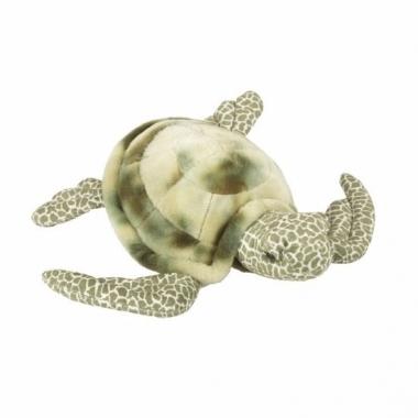 Zeeschildpad knuffel pluche liggend 35 cm