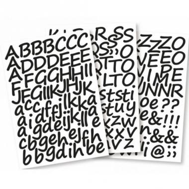 Zelfklevende letter stickers 3 cm