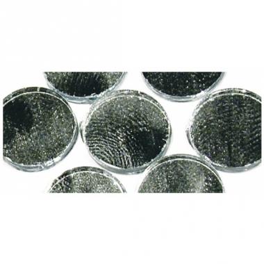 Zelfklevende spiegel mozaiek zilver