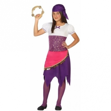 Zigeunerinnen/gypsy verkleedkostuum esmeralda voor meisjes