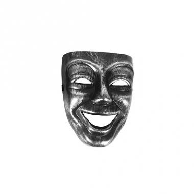 Zilver met zwart gezichtsmasker