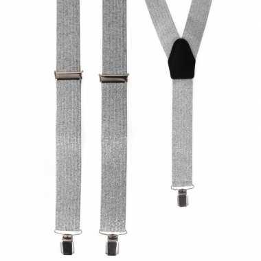Zilveren bretels volwassenen