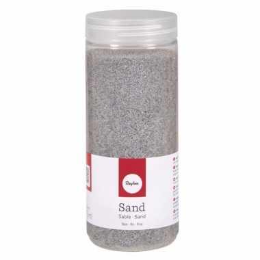 Zilveren decoratie zandkorrels fijn